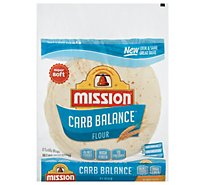 Mission Carb Balance Tortillas Flour Super Soft Soft Taco Bag 8 Count - 12 Oz