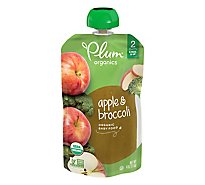 Plum Organics Baby Food Stage 2 Broccoli & Apple - 4.22 Oz