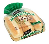Signature SELECT Rolls Hoagie Sourdough 6 Count - 16.5 Oz