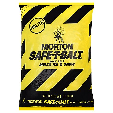 Morton Safe-T-Salt Rock Salt - 10 Lb