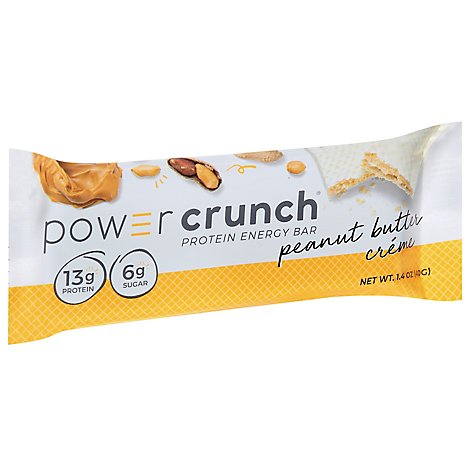Power Crunch Energy Bar Protein Peanut Butter Creme - 1.4 Oz