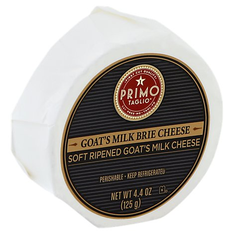 Primo Taglio Cheese Brie Soft Ripened Goats Milk - 4.4 Oz