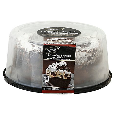 Signature SELECT Cake Ice Cream 8 Inch Chocolate Fudge Brownie - 40 Oz