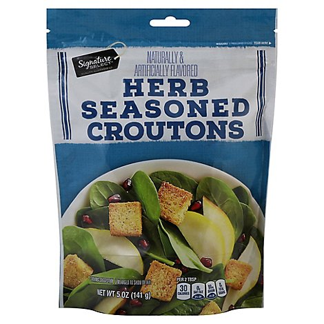 Signature SELECT Croutons Herb Seasoned - 5 Oz
