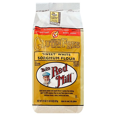 Bobs Red Mill Flour Sorghum Sweet White Wheat Free - 22 Oz