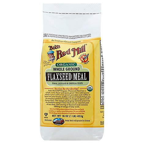 Bobs Red Mill Organic Flaxseed Meal Brown - 16 Oz