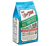 Bobs Red Mill Flour White Unbleached Organic - 5Lb