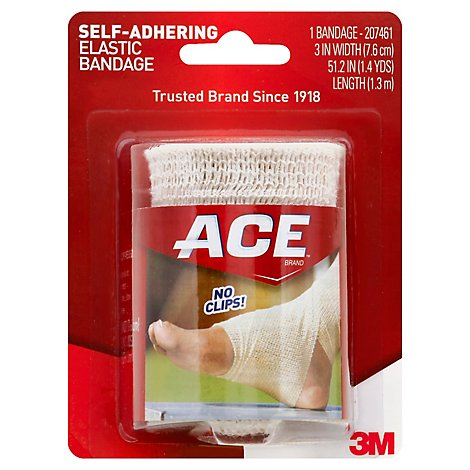 ACE Elastic Bandage Self-Adhering 3 Inches - Each
