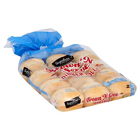 Signature SELECT Rolls Dinner Brown N Serve Enriched Flour - 12 Oz