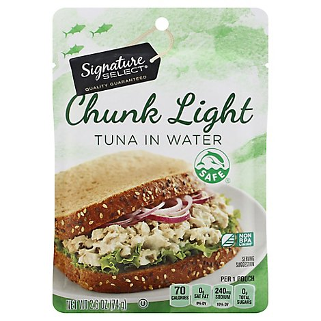 Signature SELECT Tuna Chunk Light in Water - 2.6 Oz