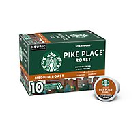 Starbucks Coffee K-Cup Pods Medium Roast Pike Place Roast - 10-0.44 Oz