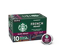 Starbucks Coffee K-Cup Pods Dark Roast French Roast Box - 10-0.42 Oz