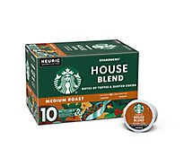 Starbucks Coffee K-Cup Pods Medium Roast House Blend - 10-0.42 Oz