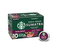Starbucks Coffee K-Cup Pods Dark Roast Sumatra Packets - 10-0.42 Oz