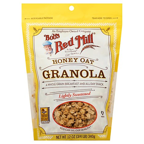 Bobs Red Mill Granola Honey Oat - 12 Oz