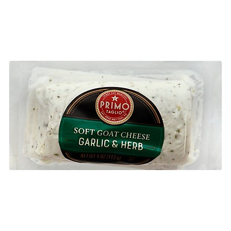 Primo Taglio Cheese Goat Soft Garlic & Herb - 4 Oz
