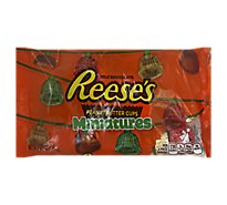 Reeses Peanut Butter Cups Milk Chocolate Miniatures - 11 Oz