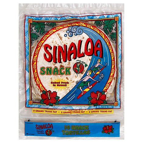 Sinaloa Tortillas Flour Snack Bag 10 Count - 11.5 Oz