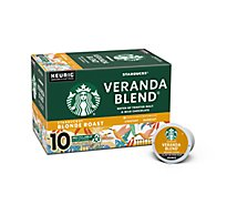 Starbucks Coffee Ground K Cup Pods Blonde Roast Veranda Blend - 10-0.42 Oz