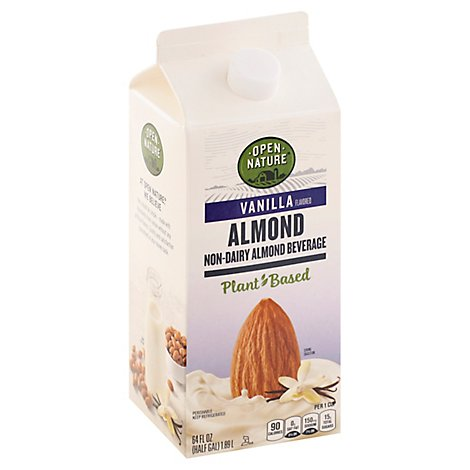 Open Nature AlmondMilk Vanilla Half Gallon - 64 Fl. Oz.