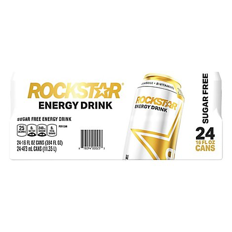 Rockstar Energy Drink Sugar Free - 24-16 Fl. Oz.