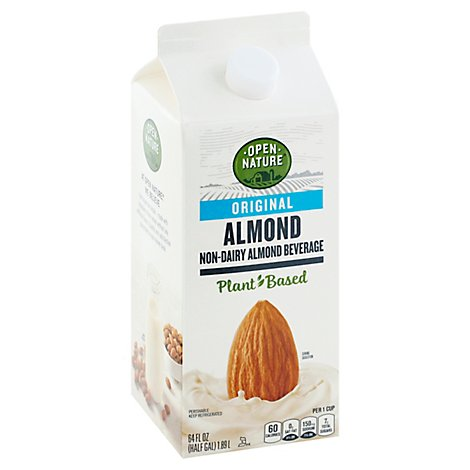 Open Nature Almond Milk Original Half Gallon - 64 Fl. Oz.