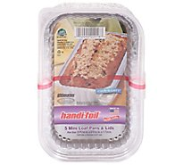 Handi-Foil Loaf Pan With Lid 1 Lb - 5 Count