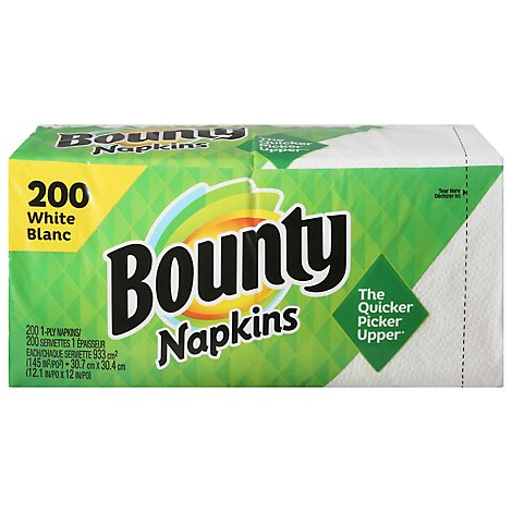 Bounty Paper Napkins White 1 Ply - 200 Count