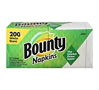 Bounty Napkins Paper White 1 Ply - 200 Count