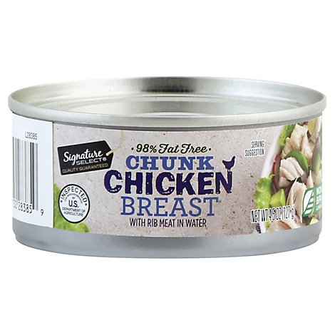 Signature SELECT Chicken Breast Chunk with Rib Meat in Water - 4.5 Oz