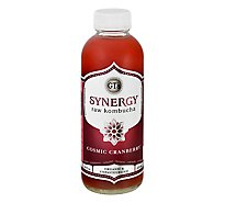 GTs Enlightened Synergy Kombucha Organic & Raw Cosmic Cranberry - 16 Fl. Oz.
