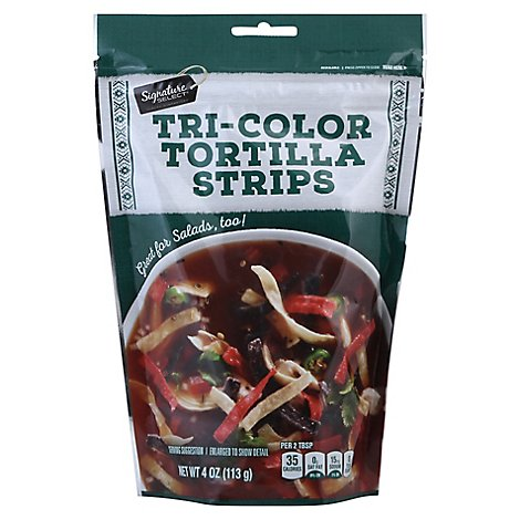 Signature SELECT Tortilla Strips Tri-Color - 4 Oz