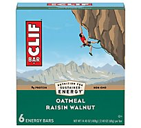 Clif Bar Oatmeal Raisin Walnut Energy Bar - 6-2.4 Oz