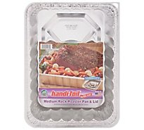 Handi-Foil Pans & Lid Roaster Rack Medium - Each