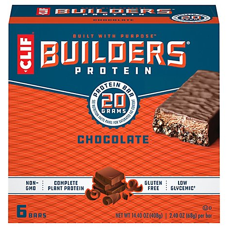 CLIF Builders Protein Bar Chocolate - 6-2.4 Oz