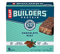 CLIF Builders Protein Bar Chocolate Mint - 6-2.4 Oz