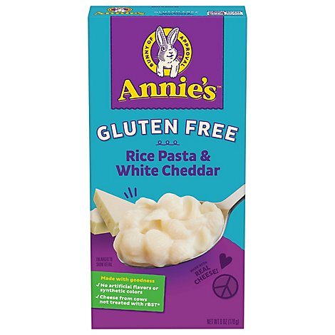 Annies Homegrown Pasta Rice Shell & Creamy White Cheddar Gluten Free Box - 6 Oz