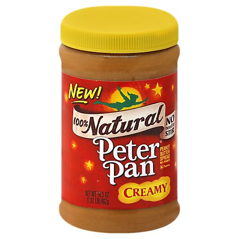 Peter Pan Peanut Butter Creamy Natural - 16.3 Oz