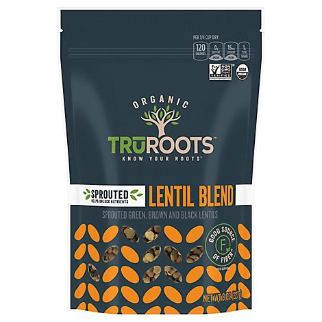 truRoots Organic Accents Lentil Sprouted Trio - 8 Oz