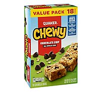 Quaker Chewy Granola Bars Chocolate Chip Value Pack - 18-0.84 Oz