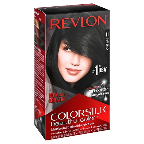 Revlon Colorsilk Haircolor Soft Black - Each