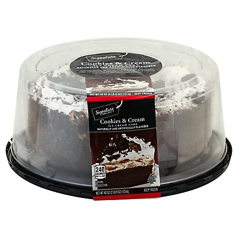 Signature SELECT Ice Cream Cake Cookies & Cream 8 Inch - 40 Oz