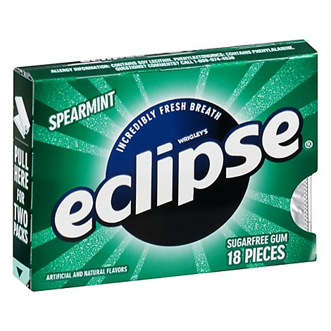 Eclipse Spearmint Sugarfree Gum Single Pack