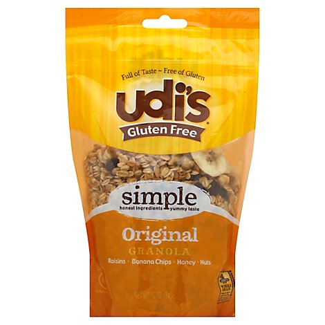 Udis Gluten Free Granola Simple Original - 12 Oz