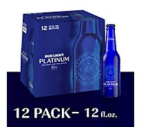 Bud Light Beer Bottle Platinum - 12-12 Fl. Oz.