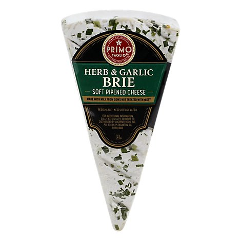 Primo Taglio Cheese Soft Ripened Herb & Garlic Brie - 0.5 Lb