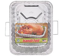 Handi-foil Roaster King Rectangular With Handles - Each