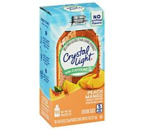 Crystal Light Drink Mix With Caffeine Peach Mango - 10-0.07 Oz