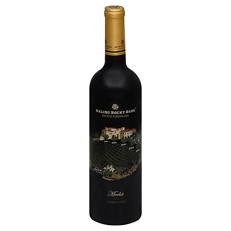 Malibu Rocky Oaks Merlot Wine - 750 Ml