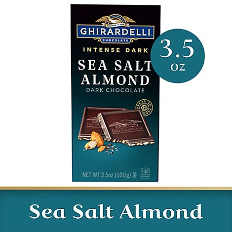 Ghirardelli Intense Dark Chocolate Bar Sea Salt Soiree With Sea Salt & Roasted Hazelnuts - 3.5 Oz